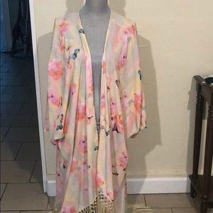 Romantic watercolor kimono